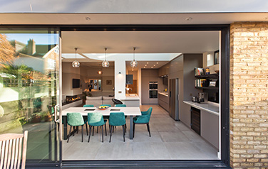 House renovation Kew TW9, Richmond, London, Kitchen extension Kew TW9, flat roof extension, sliding door extension, Kitchen installation, underfloor heating, decorating Kew TW9 Richmond.  West London Extensions 7079